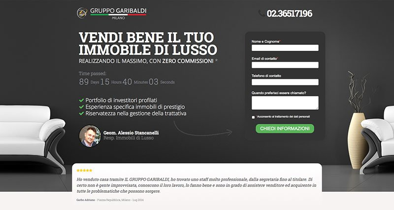 La Landing Page è lo strumento principale dell'Inbound Marketing